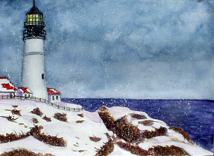 Lighthouse in The Winter
